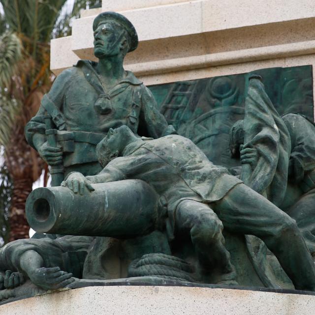 """Naval Memorial, Cartagena, Spain"" stock image"