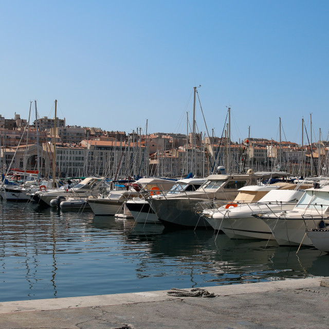 """The Waterfront in Marseille"" stock image"