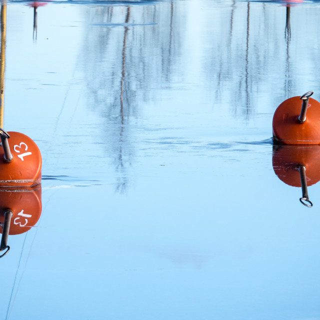 """Buoys in ice"" stock image"