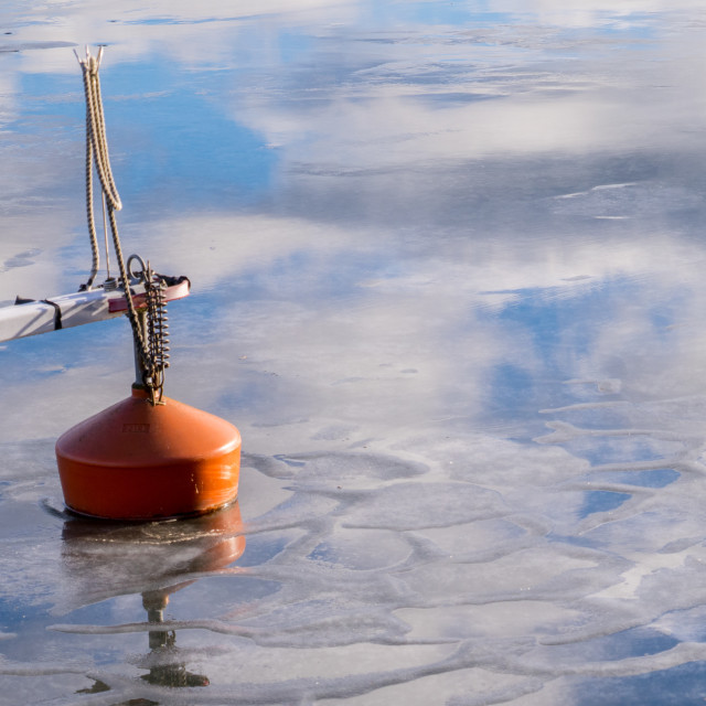 """Buoy in ice"" stock image"