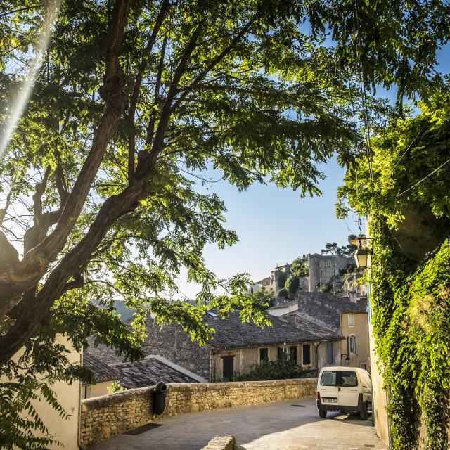 """Village of Bonnieux France"" stock image"