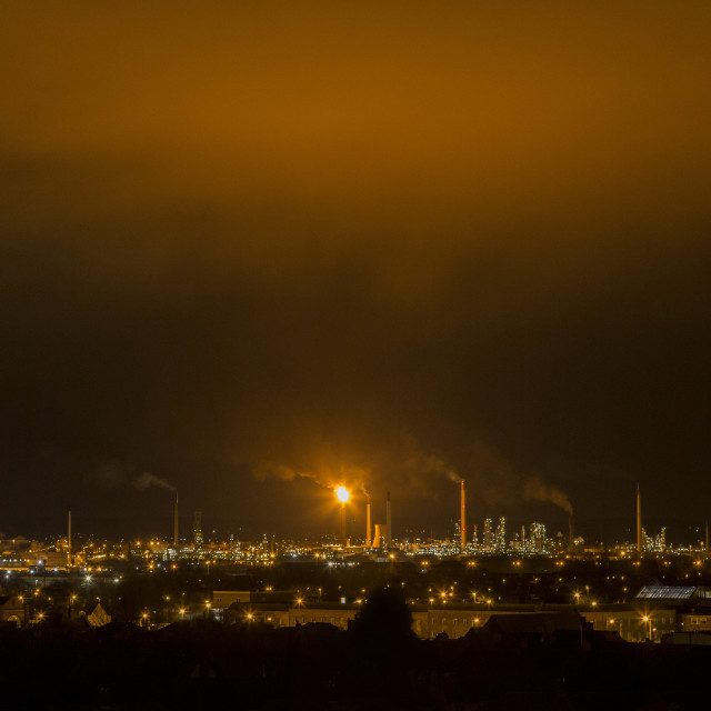 """Stanlow Refinery Blow Out Beauty"" stock image"