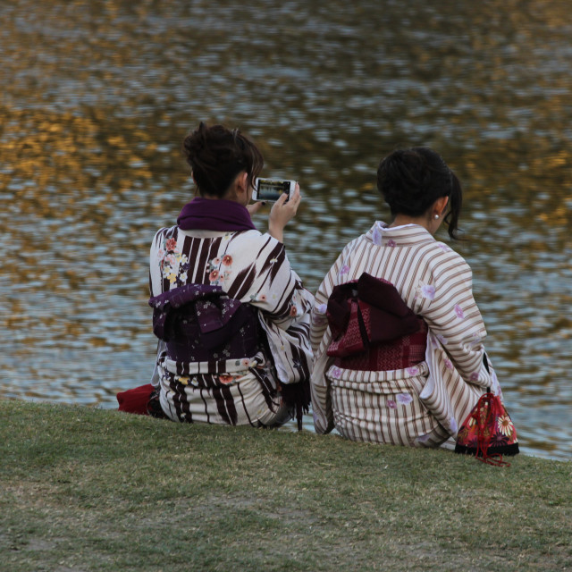 """Riverside Girls - Japan"" stock image"