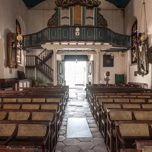 """Dutch Reformed Church, Galle Sri Lanka"" stock image"