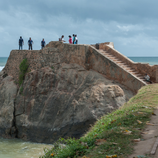 """Walls of the ancient Galle Fort, Sri Lanka"" stock image"