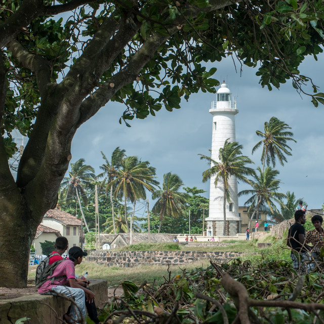 """Galle Lighthouse, Sri Lanka"" stock image"