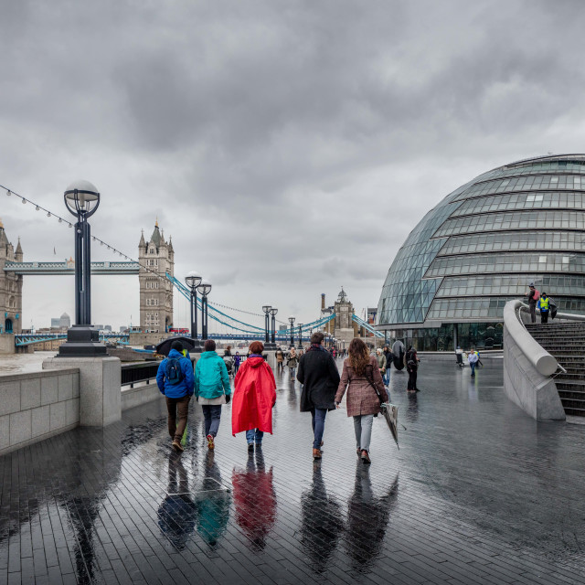 """Five Go Wet in London"" stock image"