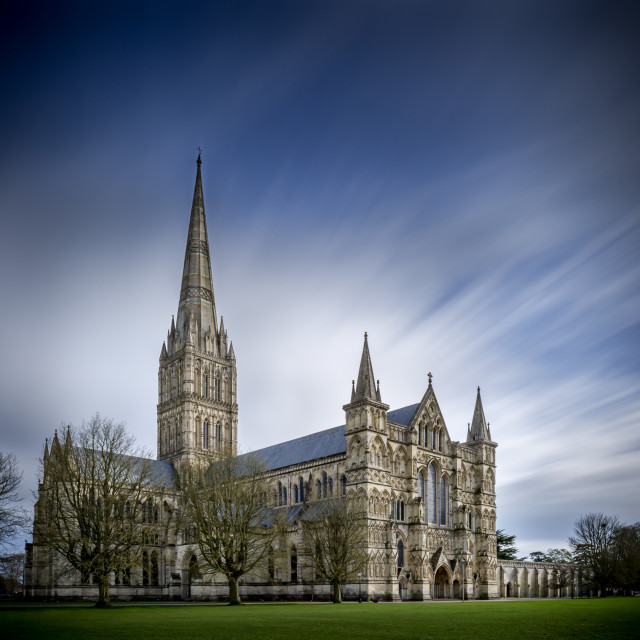 """Salisbury Cathedral"" stock image"