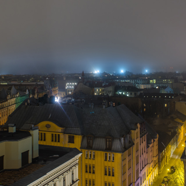 """""""Nocturnal Light Of Riga"""" stock image"""