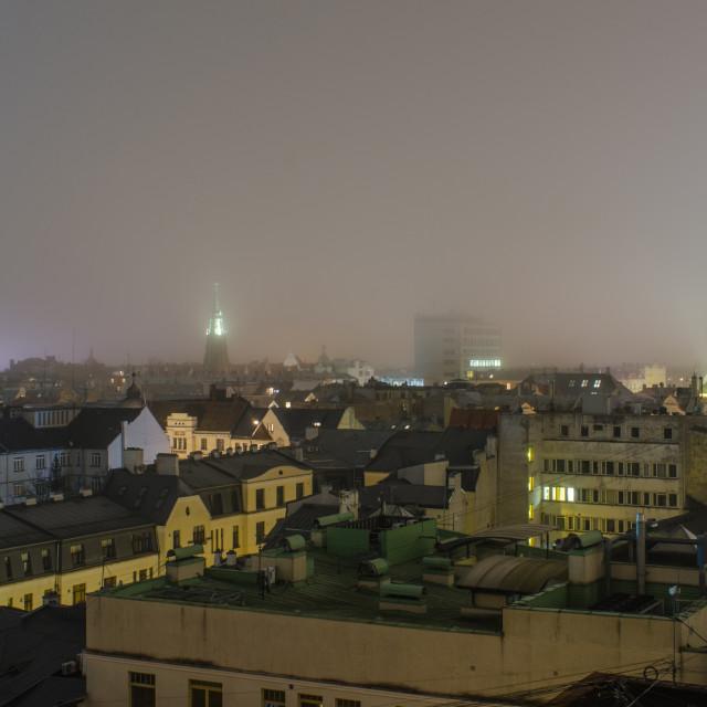 """Central Riga At Night"" stock image"