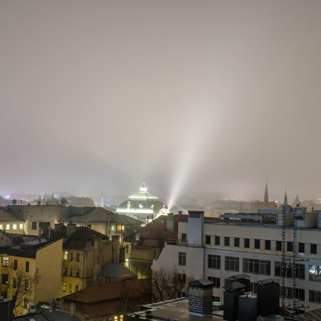 """Urban Light In Riga"" stock image"
