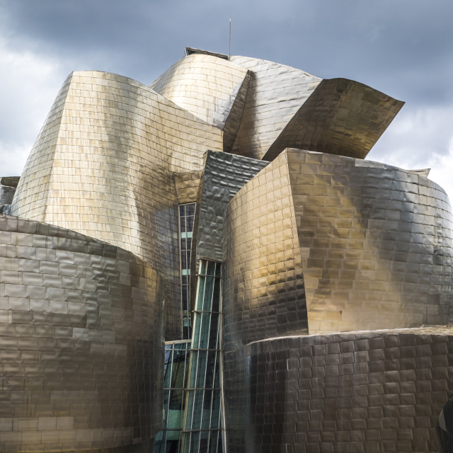 """Guggenheim Museum by the architect Frank Gehry in Bilbao"" stock image"