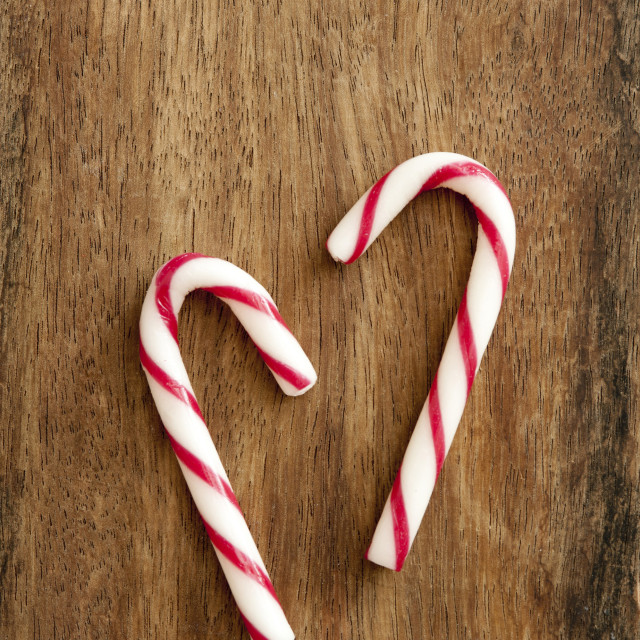 """Sweet peppermint candycanes"" stock image"