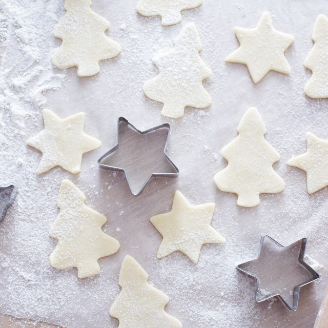"""making chrsitmas cookies"" stock image"