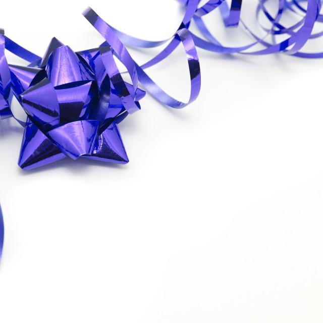 """Purple festive corner border on white"" stock image"