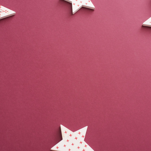 """Decorative red and white star border or frame"" stock image"
