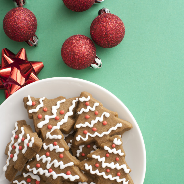"""Traditional homemade gingerbread Christmas cookies"" stock image"