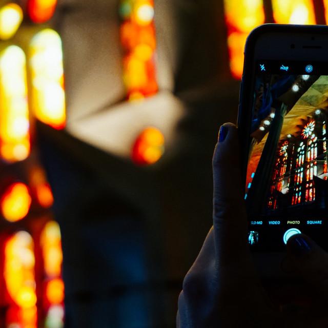 """Inside the Sagrada Família"" stock image"