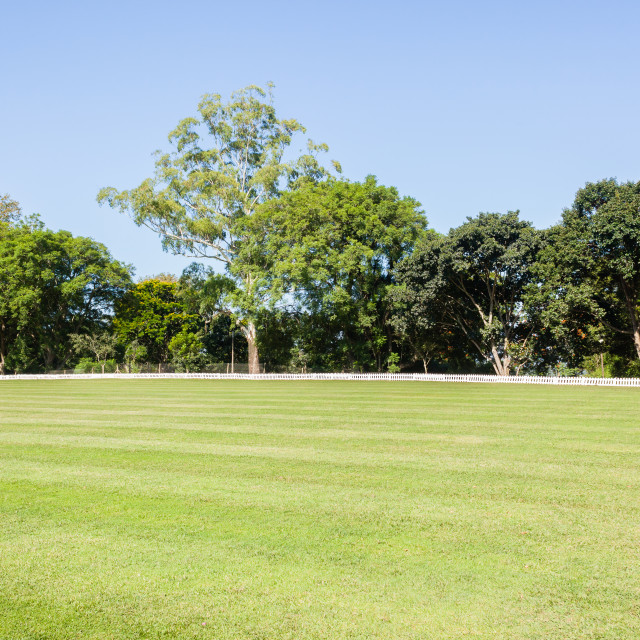 """""""Cricket outfield Boundary Grounds"""" stock image"""