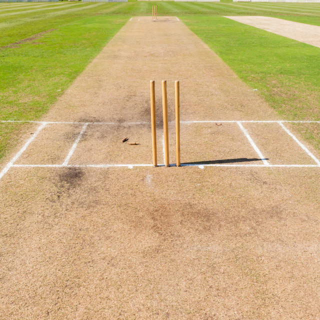 """""""Cricket Pitch's Wickets Grounds"""" stock image"""