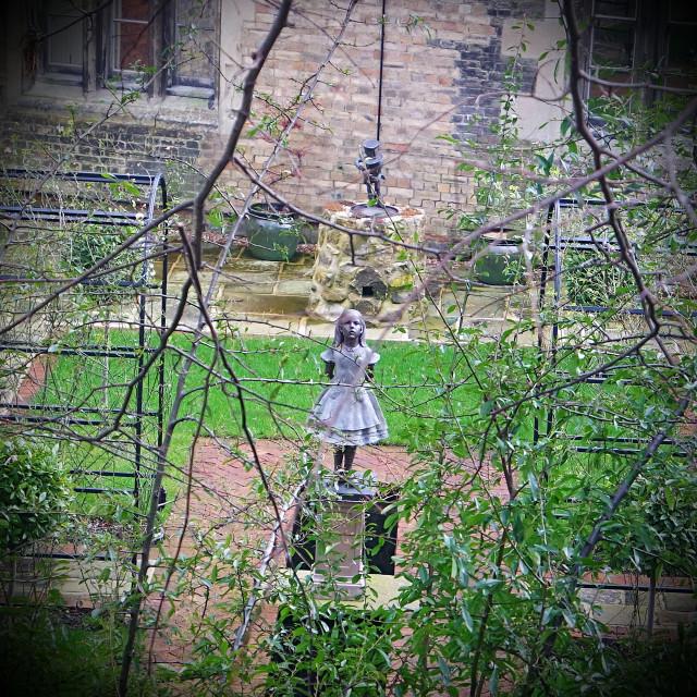"""""""Statue in Hidden Garden"""" stock image"""