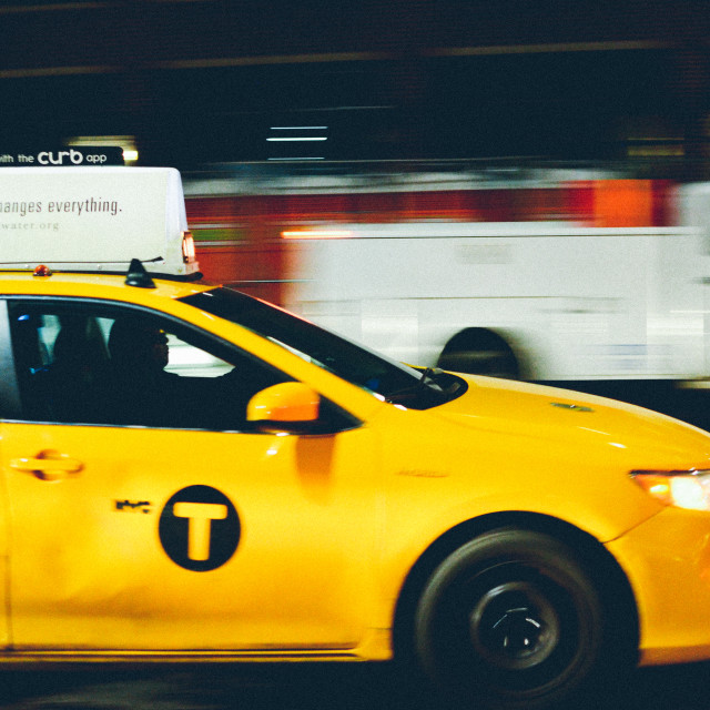 """""""NYC taxi"""" stock image"""