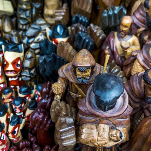 """Traditional handcrafts in Mercado Modelo"" stock image"