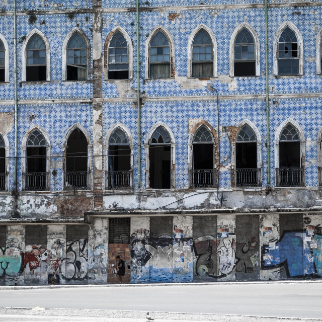 """abandoned building in Salvador Brazil"" stock image"