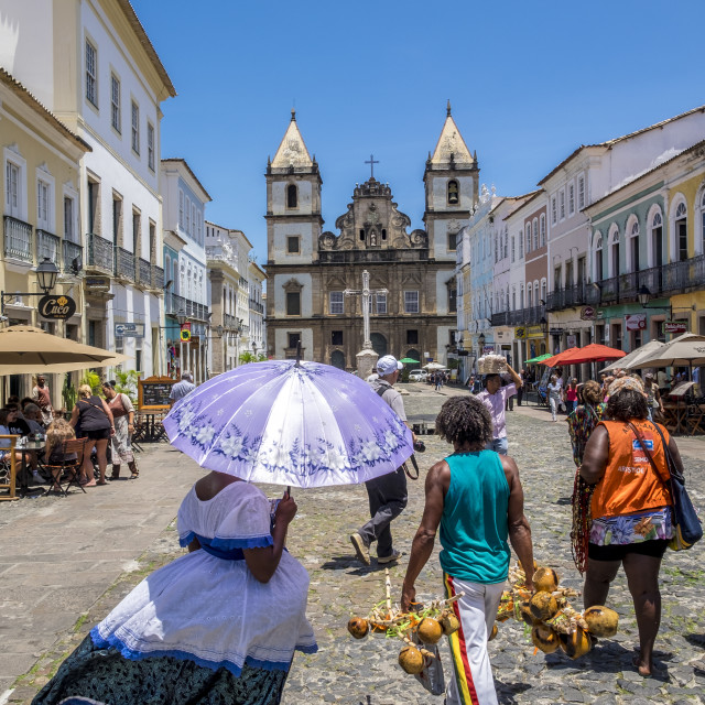 """Pelourinho is one of the most famous places of Salvador for tour"" stock image"