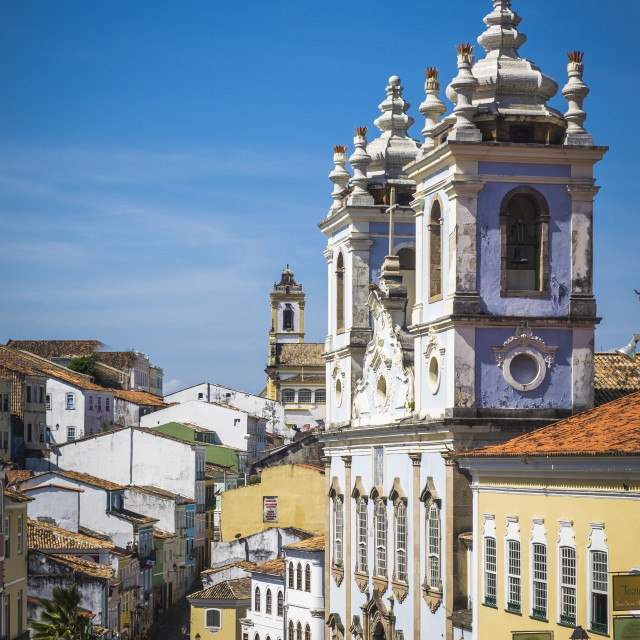 """""""Salvador, Brazil - October 26, 2016: Colonial architecture in th"""" stock image"""