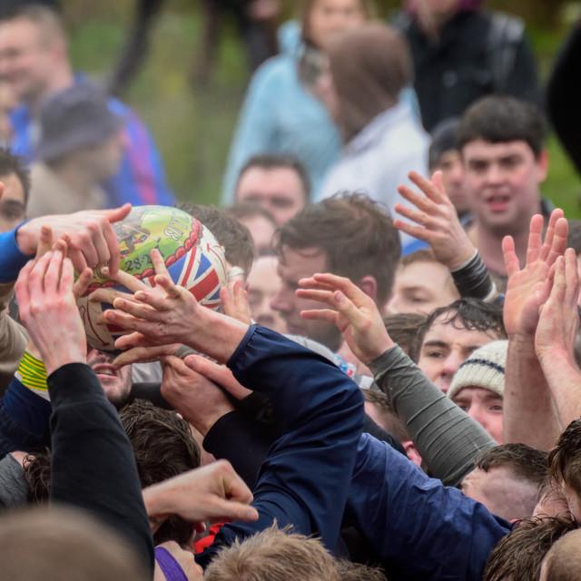 """Royal Shrovetide Football,uk"" stock image"