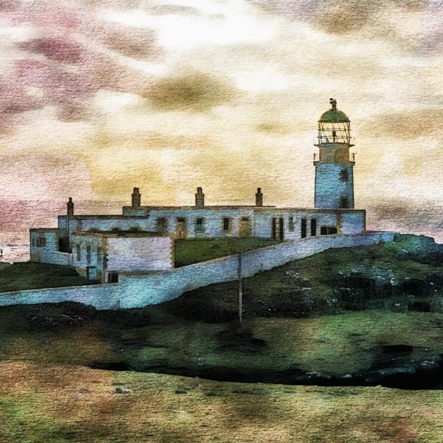 """""""Neist Point lighthouse."""" stock image"""