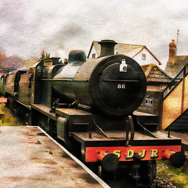 """West Somerset Railways Train."" stock image"