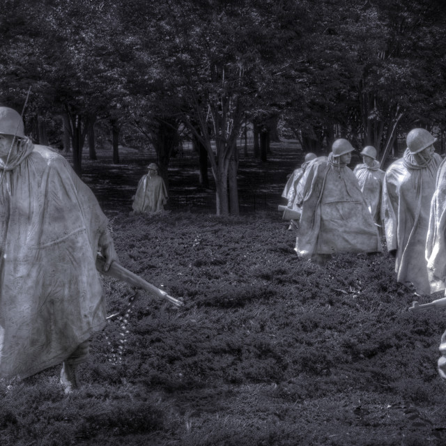 """Korean War Ghost Solders"" stock image"