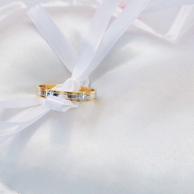 """wedding ring pillow"" stock image"