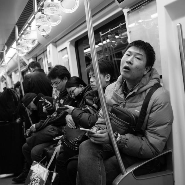 """""""Beijing metro man"""" stock image"""