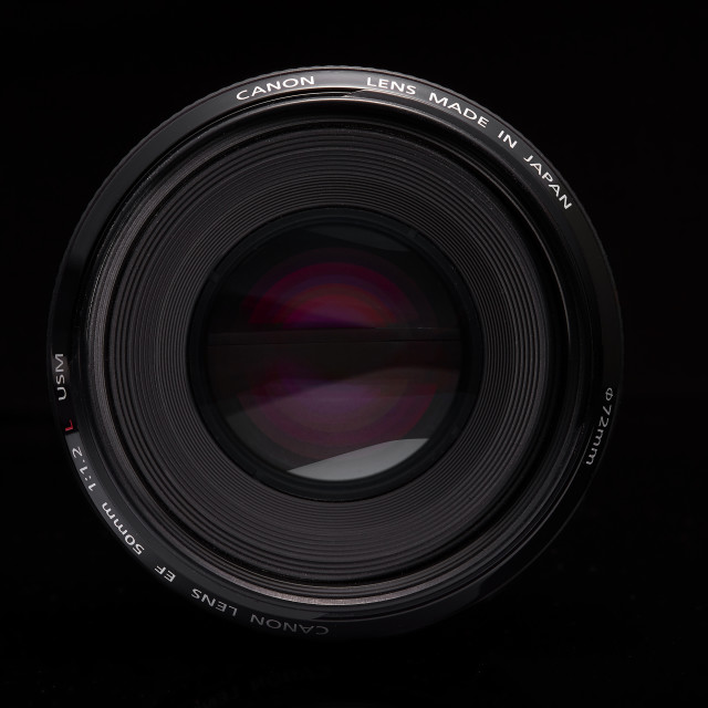"""Canon 50mm f1.2 camera lens"" stock image"