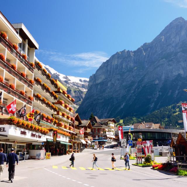 """Grindelwald - Swiss Mountain Resort (Jungfrau Region)"" stock image"