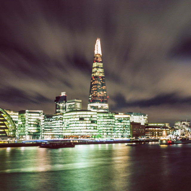 """shard at night"" stock image"