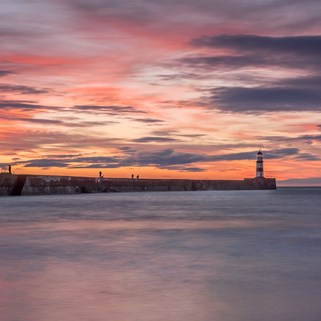 """Seaham Sunrise"" stock image"