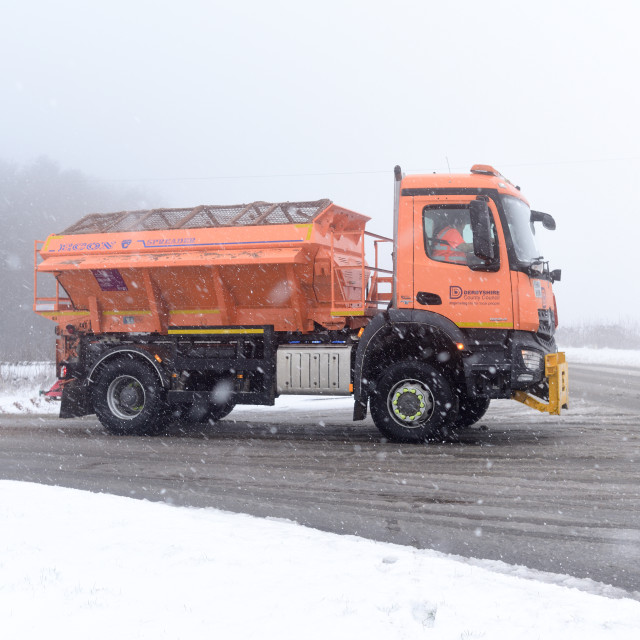 """UK Weather:Snow in Derbyshire,UK."" stock image"
