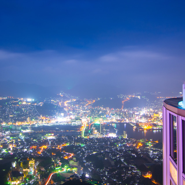 """High above the citylights"" stock image"