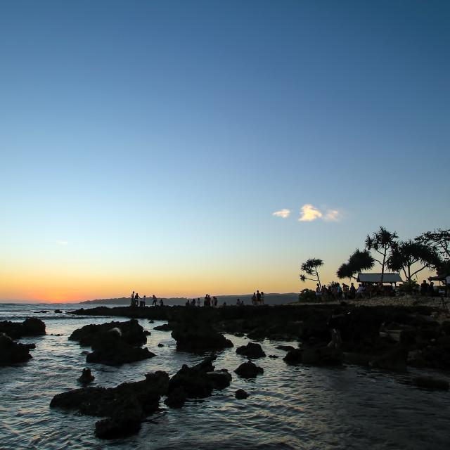 """""""Sawarna Beach"""" stock image"""