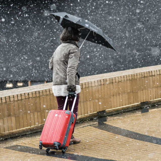 """Winter travel"" stock image"