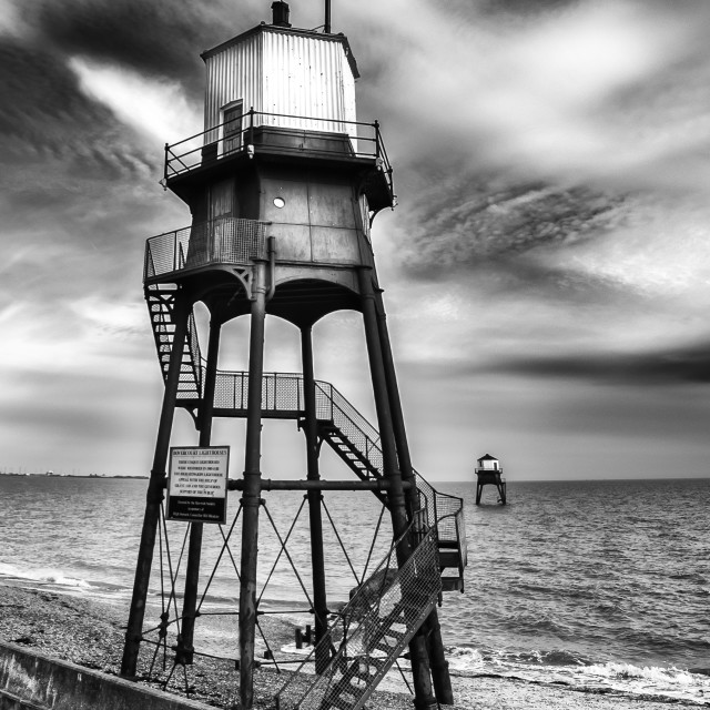 """Dovercourt High And Low Light"" stock image"