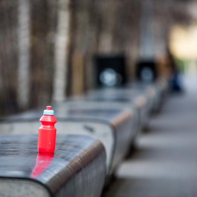 """""""Forgotten Bottle"""" stock image"""