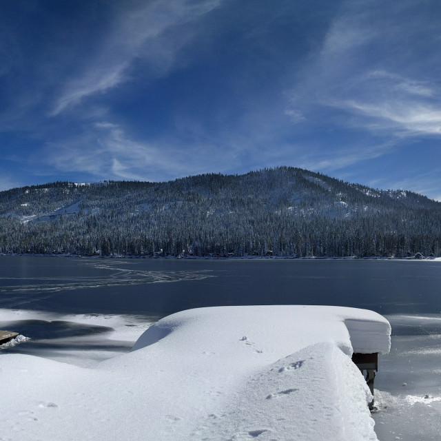 """Donner Lake"" stock image"