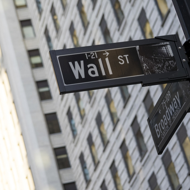 """Wall Street and Broadway"" stock image"