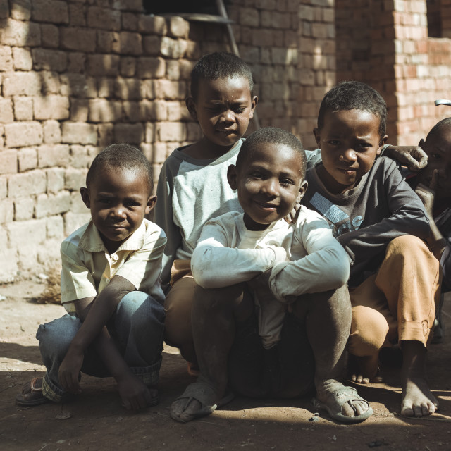 """Inside Madagascar - Children"" stock image"
