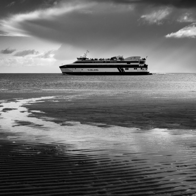 """Ferry of Vlieland, The Netherlands"" stock image"